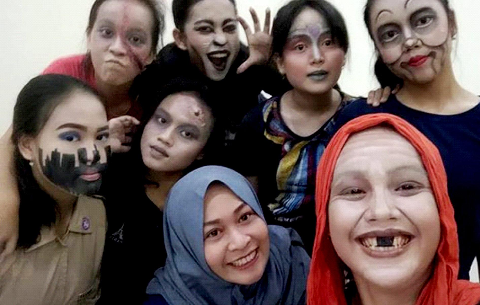 kelas makeup fantasi gandes pamantes